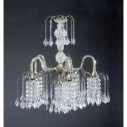 ORE Furniture Cascading 6-Light Crystal Chandelier