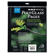 Itoya of America, Ltd Art Portfolio Polyglass Refill Pages (Set of 10); 11'' x 14''