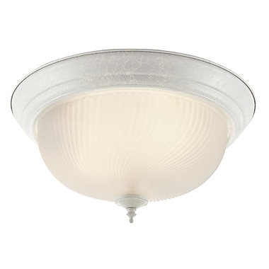 TransGlobe Lighting Flush Mount; White