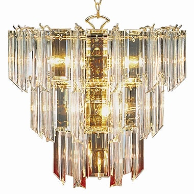 TransGlobe Lighting Back to Basics 10-Light Crystal Chandelier