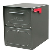 Architectural Mailboxes Oasis Locking Post Mounted Mailbox; Bronze