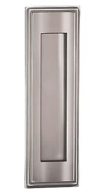 Salsbury Industries 3.5 in x 11 in Brass Mail Slot; Chrome