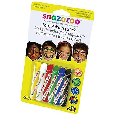 RubyRedPaint Primary Face Painting Sticks (Set of 6)