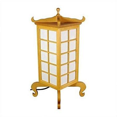 Oriental Furniture Kobe 19'' Table Lamp; Honey