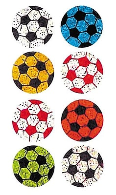 Jillson & Roberts Prismatic Bulk Roll Mini Soccer Ball Sticker