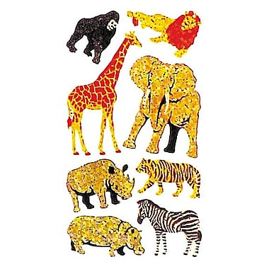 Jillson & Roberts Prismatic Bulk Roll Safari Animal Sticker