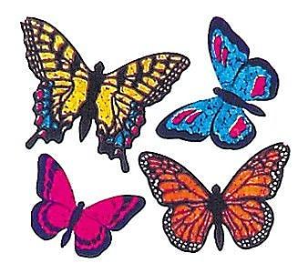 Jillson & Roberts Prismatic Bulk Roll Mini Butterfly Sticker