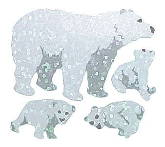 Jillson & Roberts Prismatic Bulk Roll Polar Bears Sticker