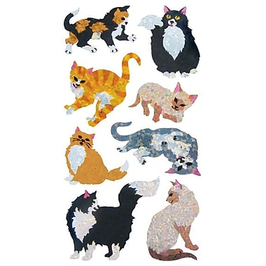 Jillson & Roberts Prismatic Bulk Rol Cat and Kitten Sticker