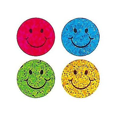 Jillson & Roberts Prismatic Bulk Roll Mini Happy Face Sticker