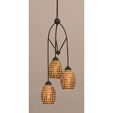Toltec Lighting Contempo 3-Light Multi Mini Pendant w/ Hang Straight Swivel