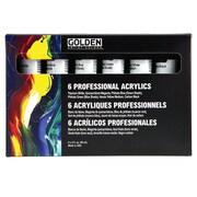 Golden Artist Colors Principal Professional 6 Piece Heavy Body Acrylic Set