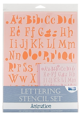 Alvin and Co. Animation Lettering Stencil Set