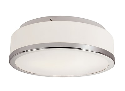 TransGlobe Lighting 2-Light Flush Mount; Polished Chrome