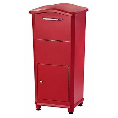 Architectural Mailboxes Elephantrunk 2 Unit Parcel Locker; Red