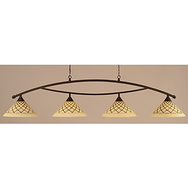 Toltec Lighting Bow 4-Light Kitchen Island Pendant