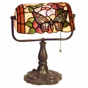 Warehouse of Tiffany Banker Butterfly 13'' Table Lamp