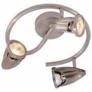 TransGlobe Lighting Modern Track Lights 3-Light Spiral Spot Light; Brushed Nickel
