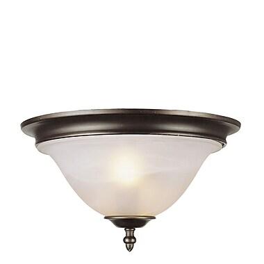 TransGlobe Lighting 2-Light Flush Mount; Rubbed Oil Bronze