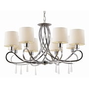 TransGlobe Lighting Infinidad 8-Light Shaded Chandelier