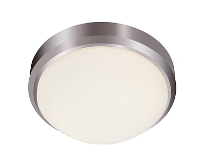 TransGlobe Lighting Classic 2-Light Flush Mount; Brushed Nickel