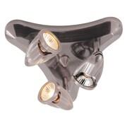 TransGlobe Lighting 3-Light Triangle Track Light; Rubbed Oil Bronze