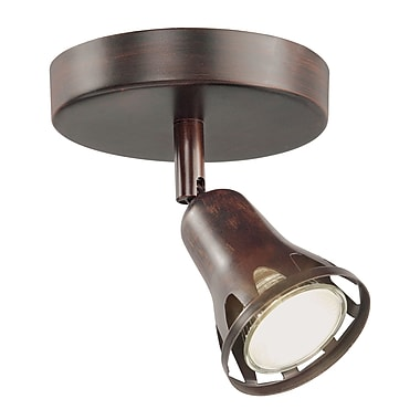 TransGlobe Lighting 1-Light Semi Flush Mount Track Light; Rubbed Oil Bronze