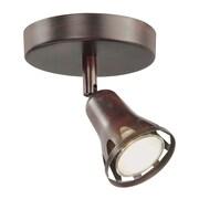 TransGlobe Lighting 1-Light Semi Flush Mount Track Light; Rubbed Oil Bronze