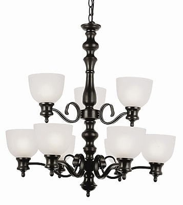 TransGlobe Lighting 9-Light Shaded Chandelier