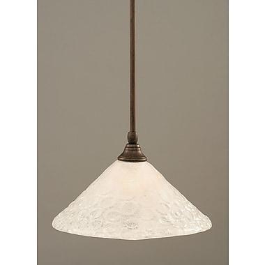 Toltec Lighting Stem Mini Pendant w/ Hang Straight Swivel; Bronze
