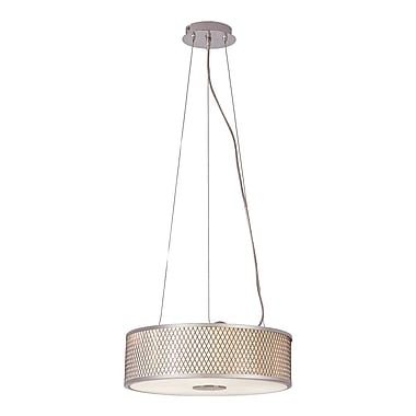 TransGlobe Lighting Diamond Grill 3-Light Pendant