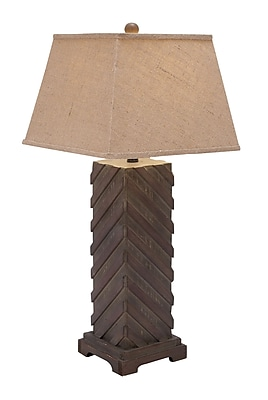 Woodland Imports Table Lamp with Square Shade