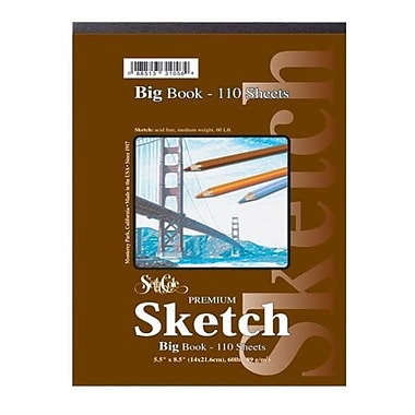 Seth Cole Premium Sketch Tape Top Big Book (110 Sheets); 9'' x 12''