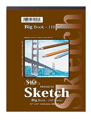 Seth Cole Premium Sketch Tape Top Big Book (110 Sheets); 9'' x 12''