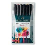 PITT Faber-Castell Artist Brush Pens (Set of 6); Basic