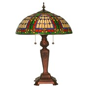 Meyda Tiffany Victorian Fleur-De-Lis 24'' Table Lamp