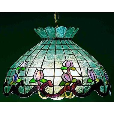 Meyda Tiffany Roseborder Ice 5 Light Bowl Pendant; Pink