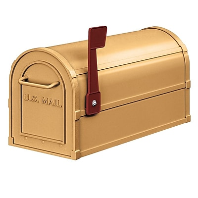 Salsbury Industries Post Mounted Mailbox; Brass