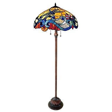 Chloe Lighting Tiffany Style Dragonfly 63\'\' Floor Lamp | Staples