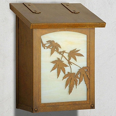 America's Finest Mailboxes Japanese Maple Wall Mounted Mailbox