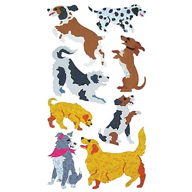 Jillson & Roberts Prismatic Bulk Roll Dog and Puppy Sticker