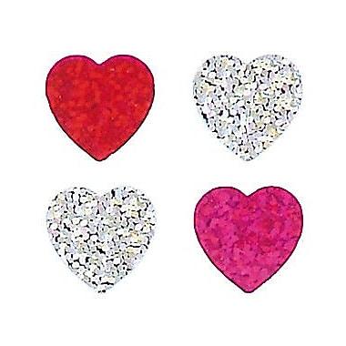 Jillson & Roberts Bulk Roll Prismatic Mini Heart Sticker (Set of 100)