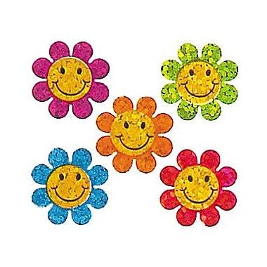 Jillson & Roberts Prismatic Bulk Roll Mini Happy Face Flower Sticker