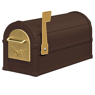 Salsbury Industries Post Mounted Mailbox; Bronze / Gold