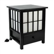 Oriental Furniture Hokkaido 19'' Table Lamp; Black