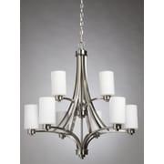 Artcraft Lighting Parkdale 9-Light Shaded Chandelier; Polished Nickel