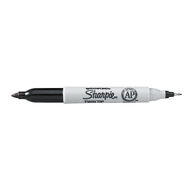 Sharpie Twin Tip Permanent Marker; Black