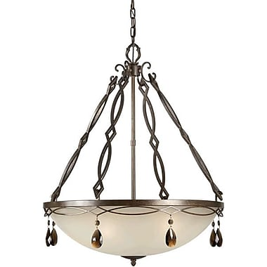 Forte Lighting Bowl Inverted Pendant; 31'' H x 25.75'' W