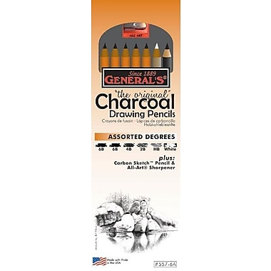 General Charcoal Drawing Pencil (Set of 6)