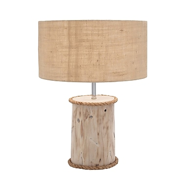 Woodland Imports 24'' H Table Lamp with Square Shade